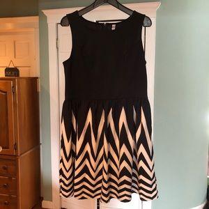 Xhilaration chevron black white tank dress XL